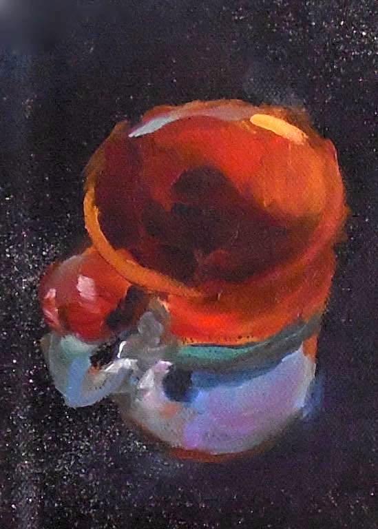 """Take Ten, 5x7 Still Life Coffee Cup"" original fine art by Carmen Beecher"