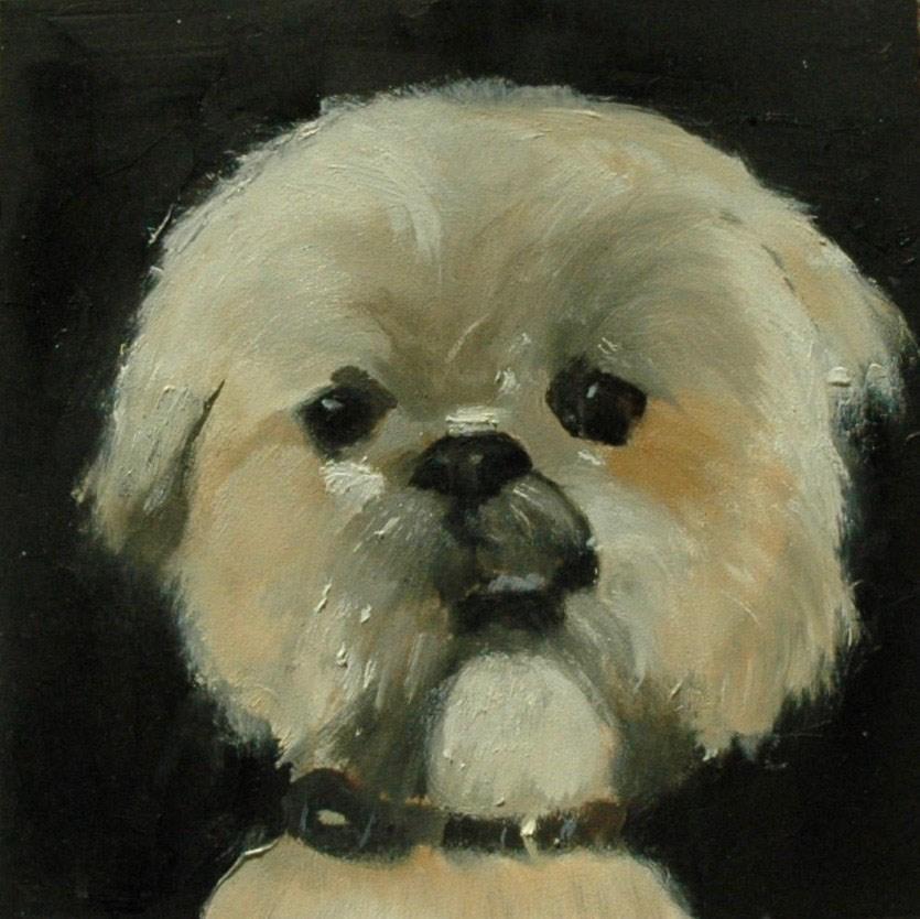 """RILEY"" original fine art by Linda Popple"