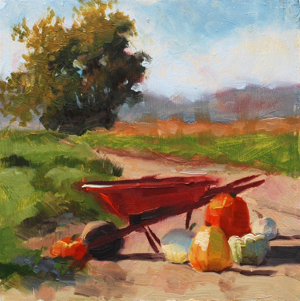 """No. 749 Bailey's U-Pick - Plein Air"" original fine art by Susan McManamen"