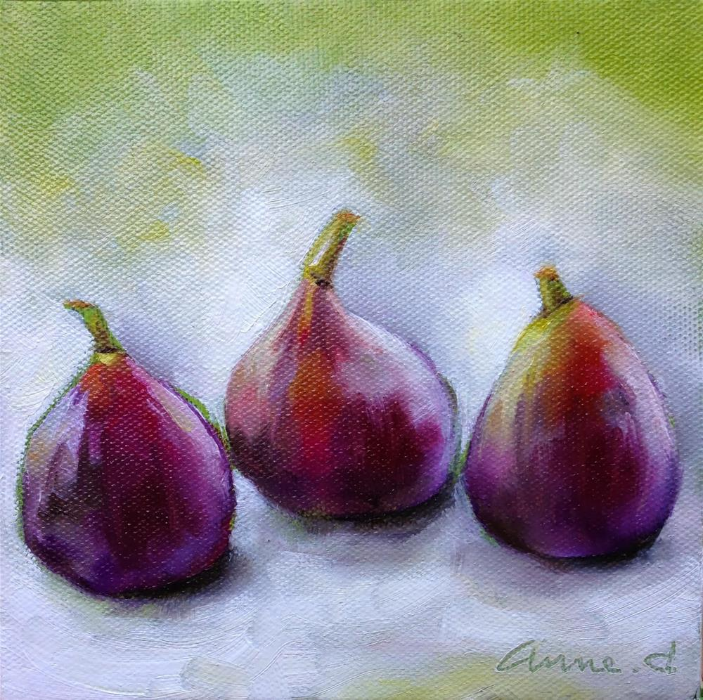 """Three Figs"" original fine art by Anne Ducrot"