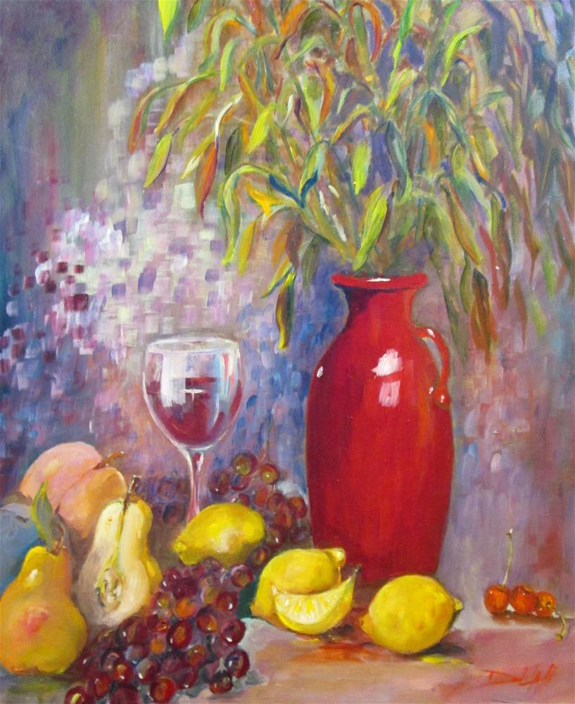 """Red Vase"" original fine art by Delilah Smith"