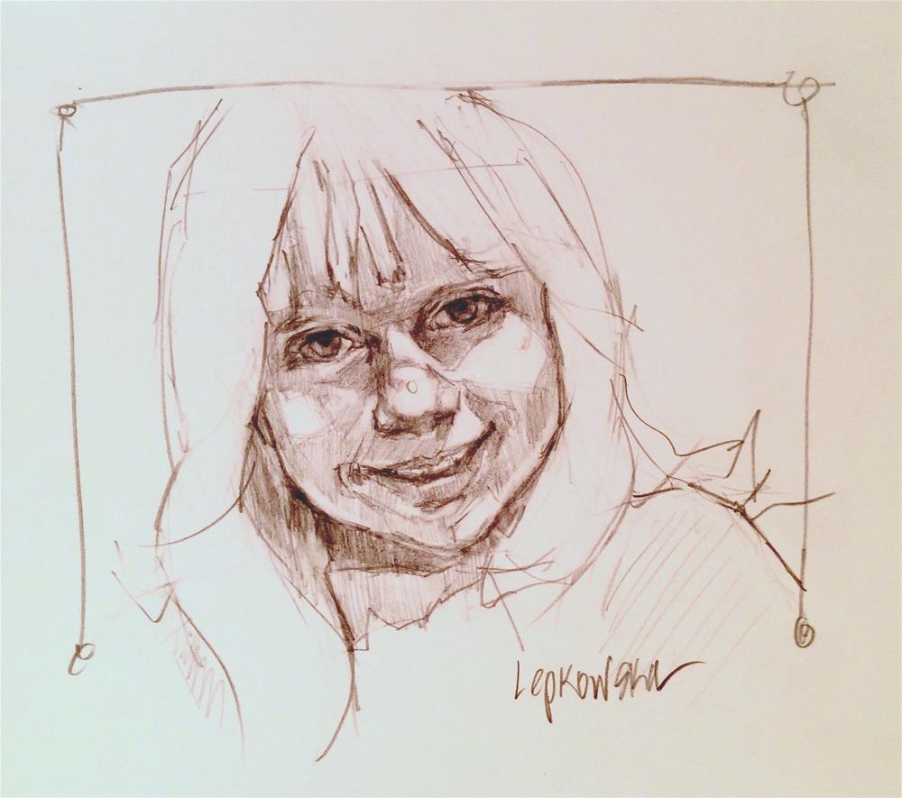 """Sunshine Dances on her Face"" original fine art by Laurie Johnson Lepkowska"