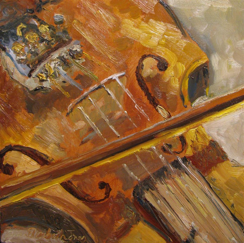 """Secondhand Violin"" original fine art by Susan Elizabeth Jones"