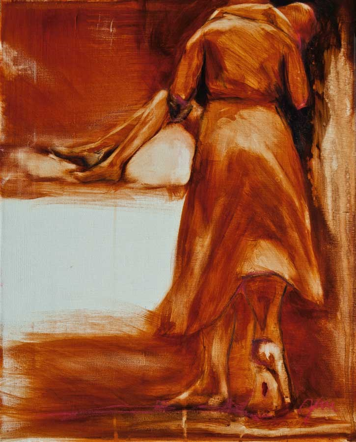 """He Walks With Me 3"" original fine art by Jani Freimann"