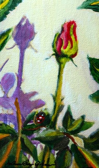 """Shadow of a Rose"" original fine art by JoAnne Perez Robinson"