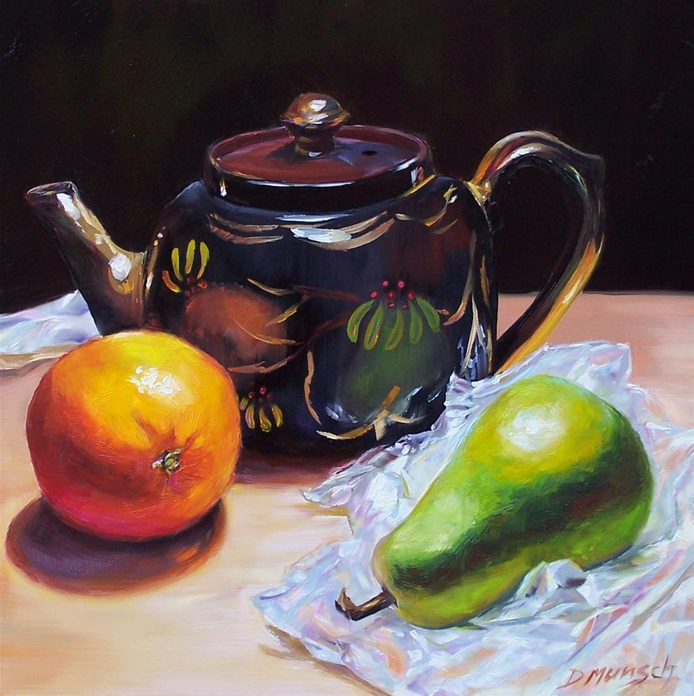 """Colleen's Teapot"" original fine art by Donna Munsch"