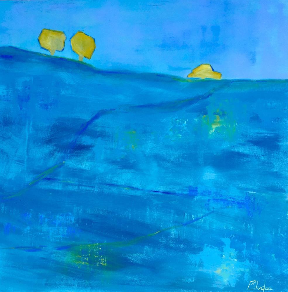 """Ridge Of Gold"" original fine art by Janet Bludau"