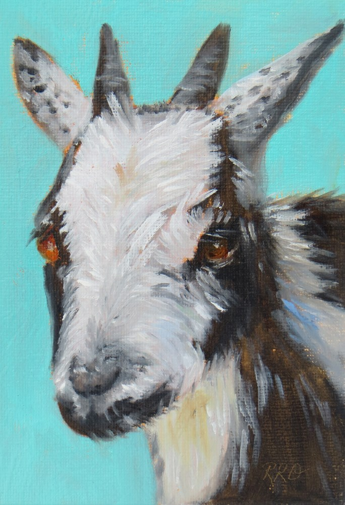 """""""Billy Goat"""" original fine art by Rhett Regina Owings"""