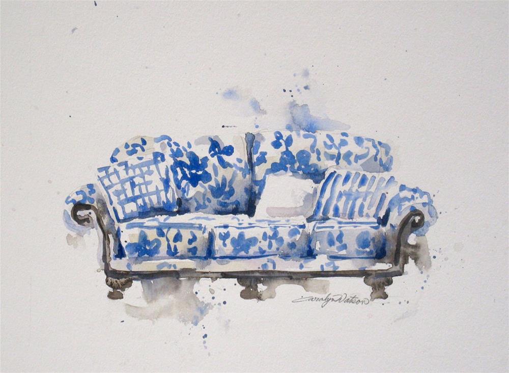 """""""Cozy Sofa"""" original fine art by carolyn watson"""