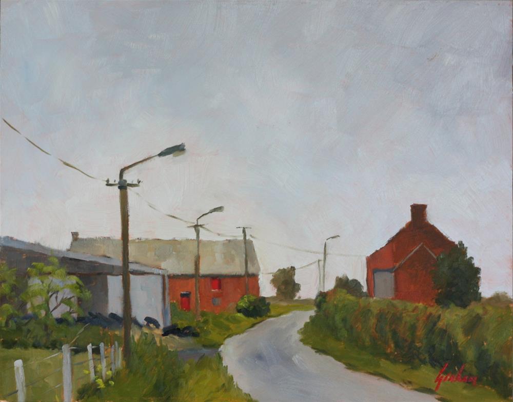 """Red door on a grey day"" original fine art by Graham Townsend"