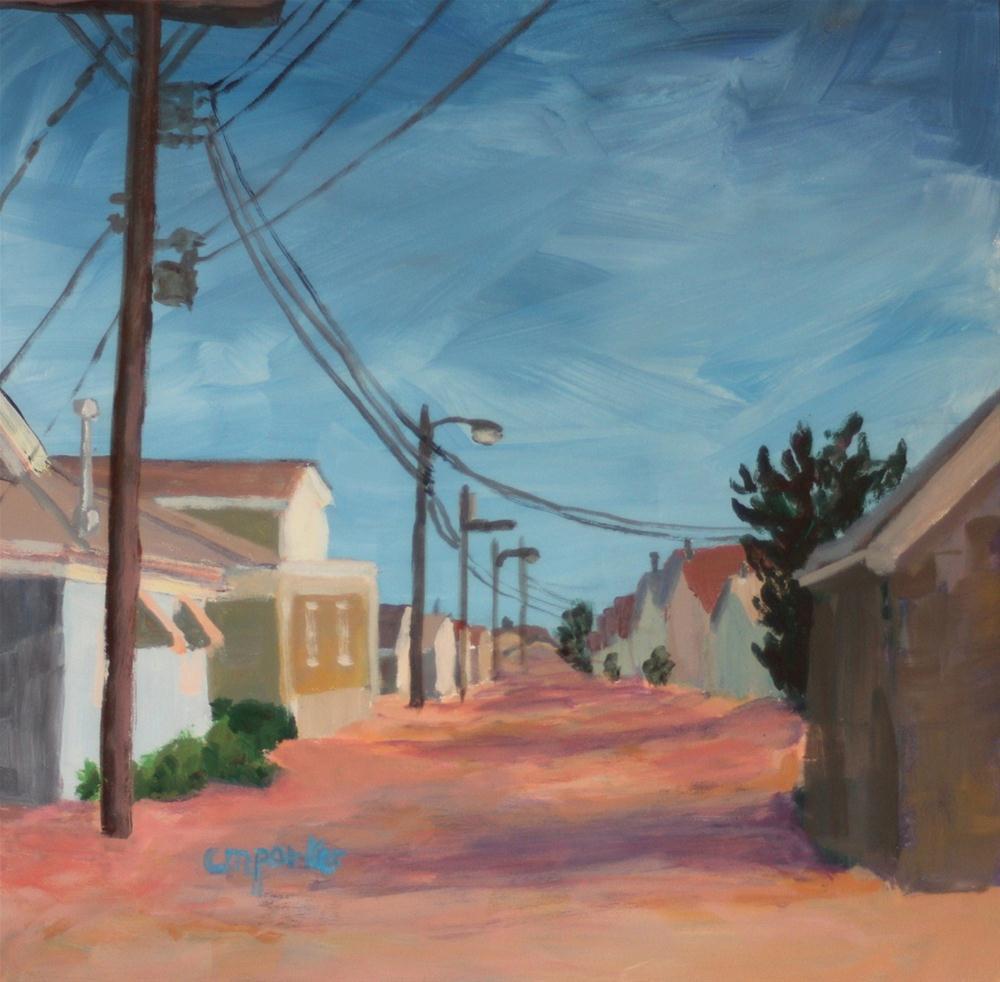 """Beach Cottages, 2/20/13"" original fine art by Christine Parker"