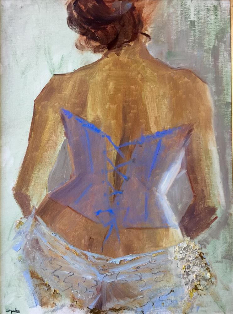 """Dauphine"" original fine art by Johanna Spinks"