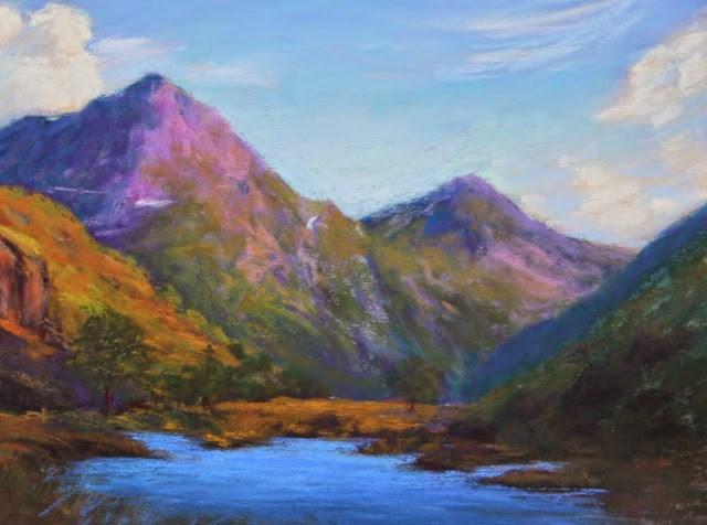 """In a Far Away Glen"" original fine art by Sharon Lewis"