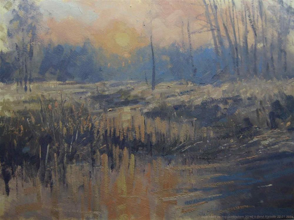 """""""There omes the day. Doetinchem, The Netherlands"""" original fine art by René PleinAir"""
