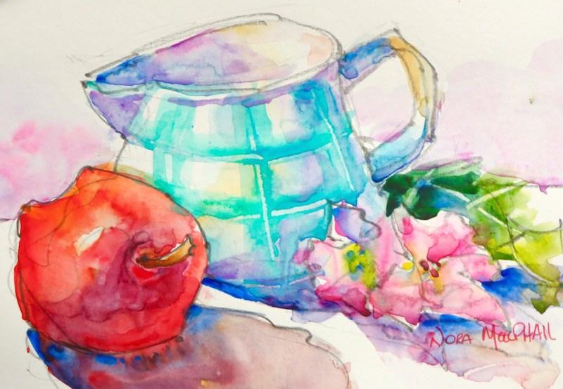 """just a little somethin'"" original fine art by Nora MacPhail"