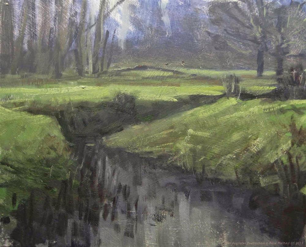 """One day later Doetinchem The Netherlands"" original fine art by René PleinAir"