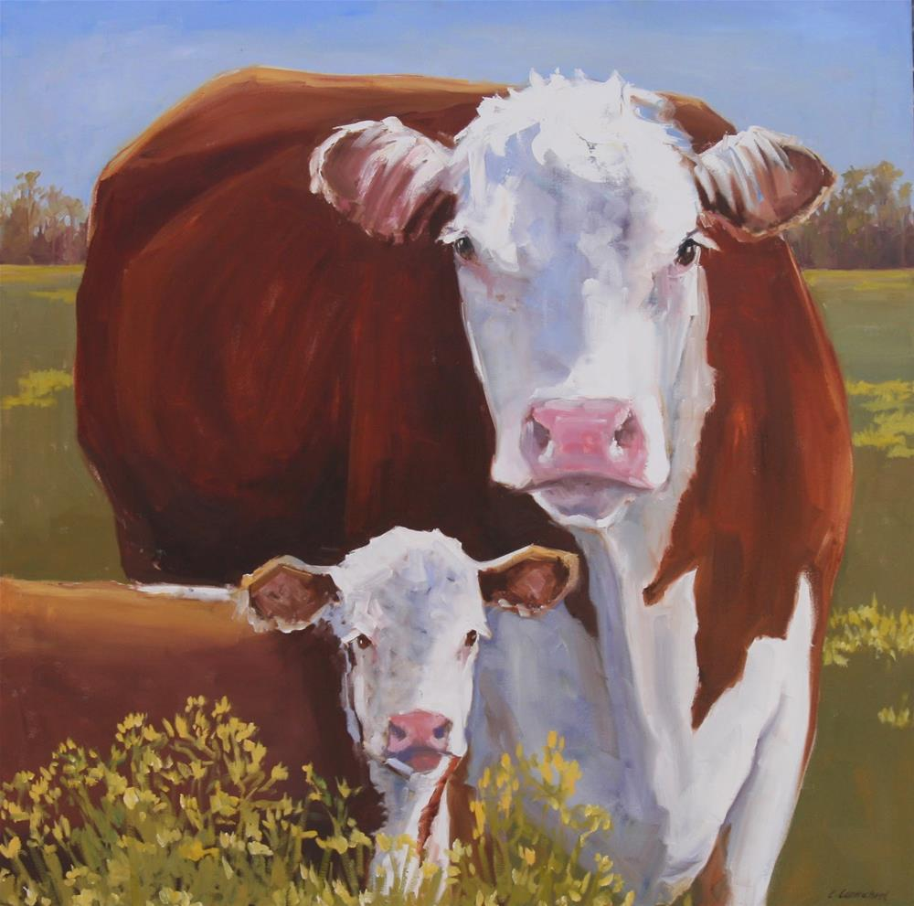 """chip off the old block"" original fine art by Carol Carmichael"