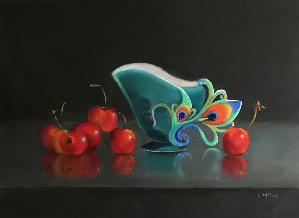 """Rainier Cherries and Franz Creamer"" original fine art by Linda McCoy"