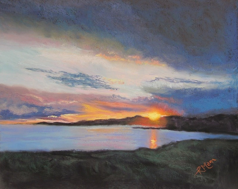 """Serene Sunset"" original fine art by Ruth Mann"