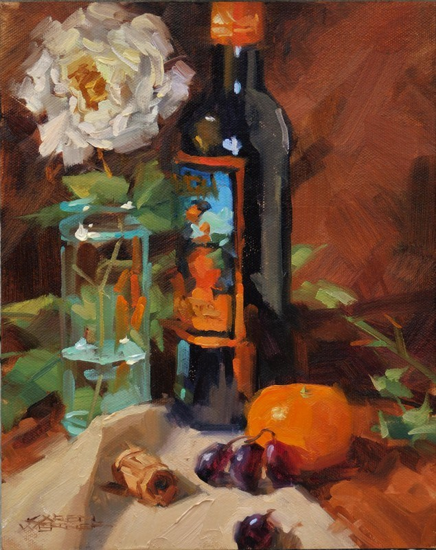 """""""Fiesta"""" original fine art by Karen Werner"""