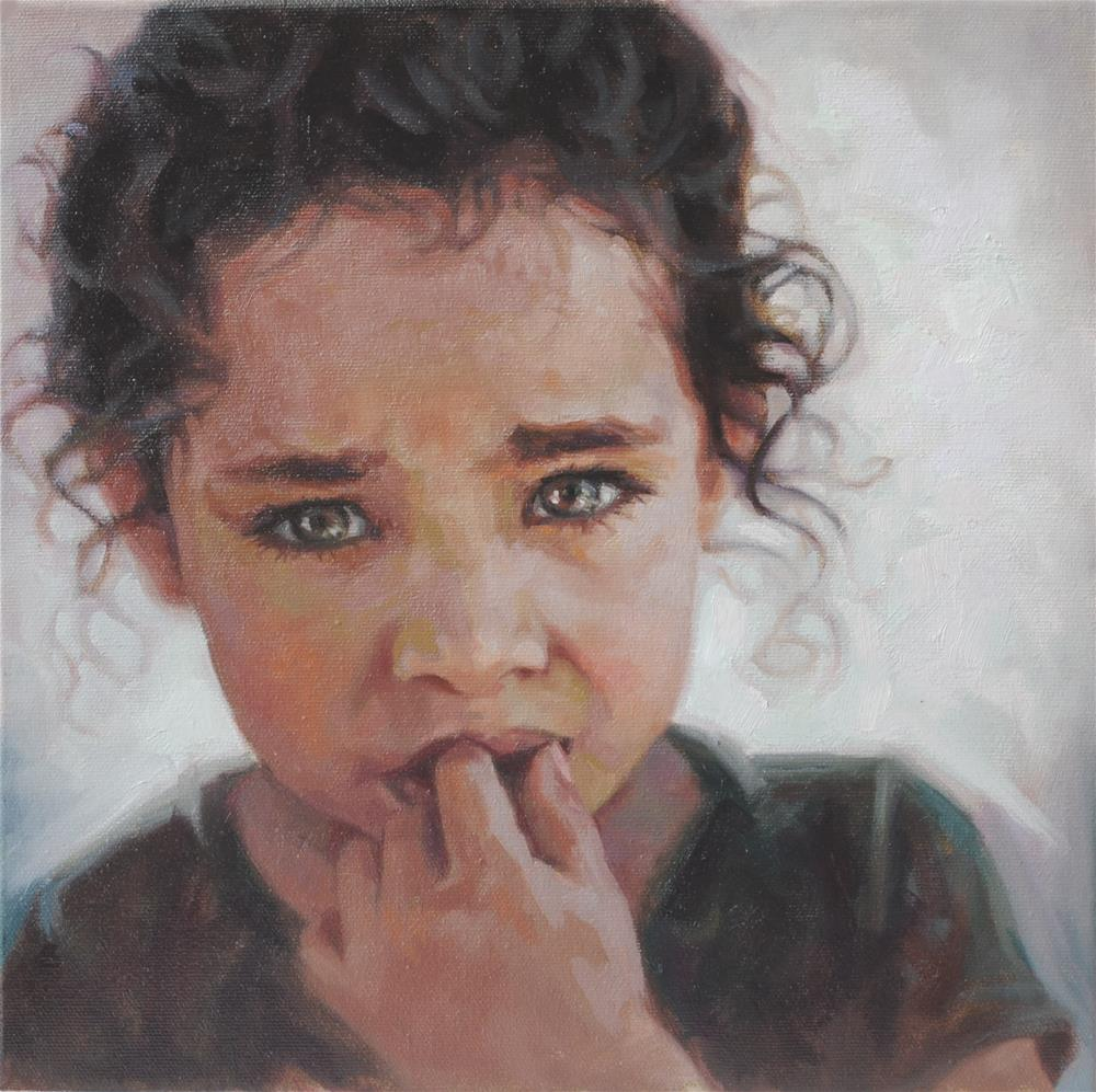 """""""To Such As These: Muslim Refugee from Syria"""" original fine art by Cecile W. Morgan"""