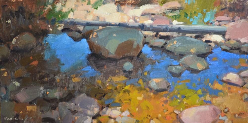 """Desert Oasis"" original fine art by Carol Marine"