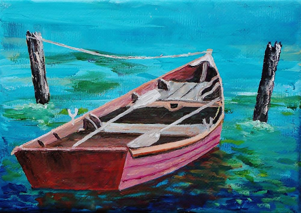 """""""row your boat"""" original fine art by Mike Caitham"""