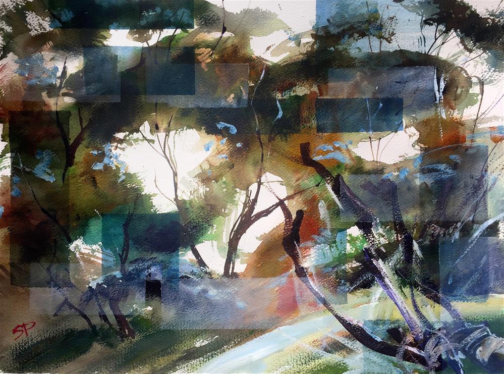 """Blue Foliage"" original fine art by Shirley Peters"