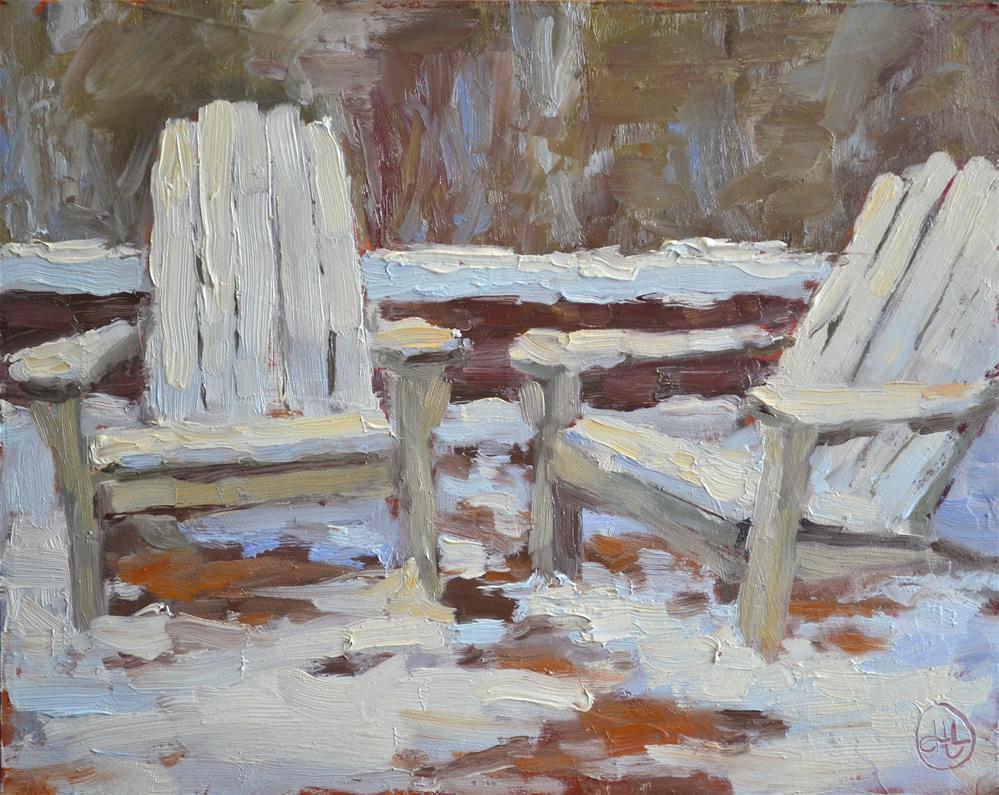 """February frosting"" original fine art by Dottie  T  Leatherwood"