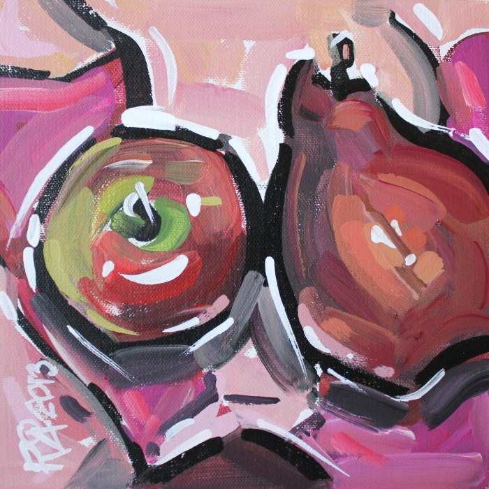 """Apples and Pears 2"" original fine art by Roger Akesson"