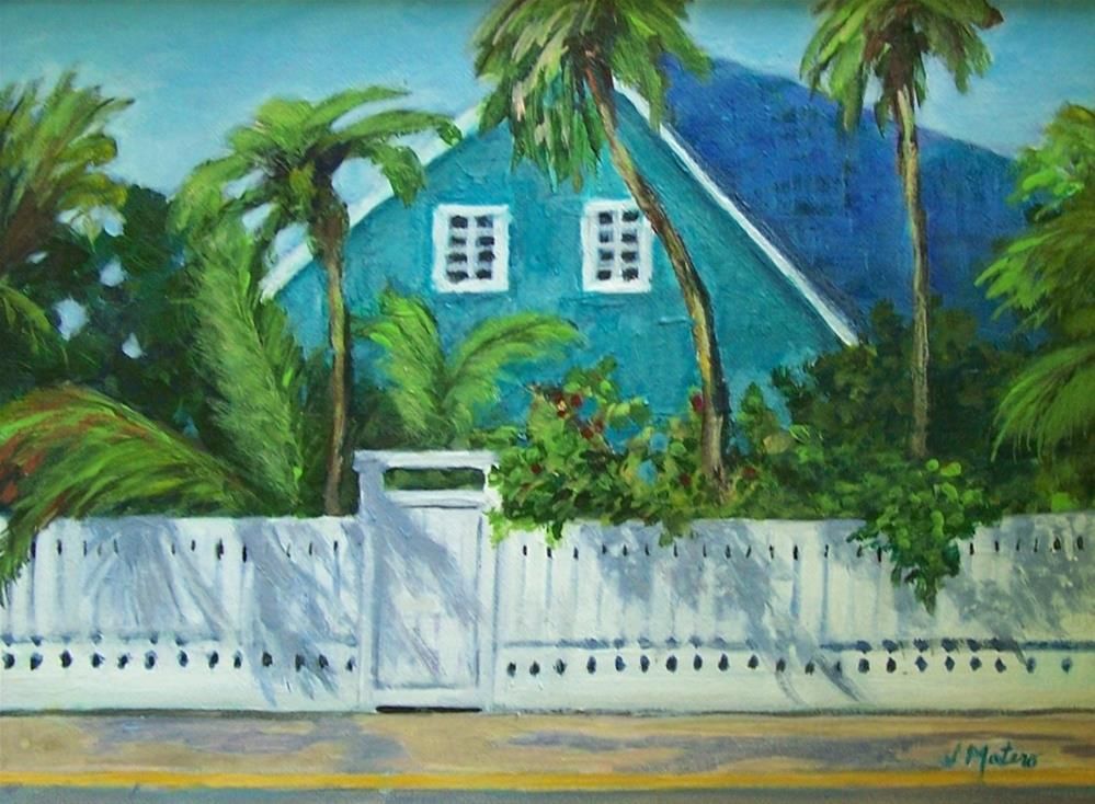 """Key West House"" original fine art by Joan Matero"
