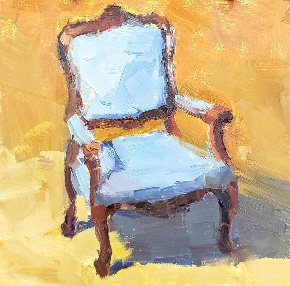 """Antique Chair"" original fine art by Barbie Smith"