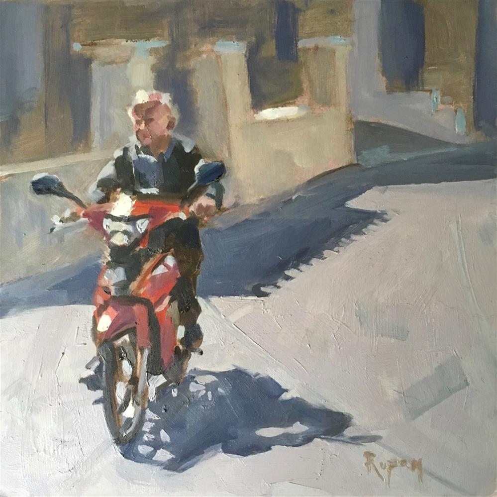 """Red"" original fine art by Rupam Barthakur"