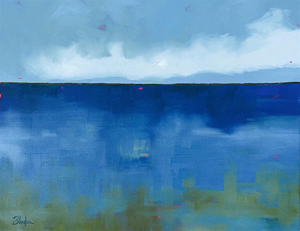 """""""Vast Ocean"""" original fine art by Janet Bludau"""