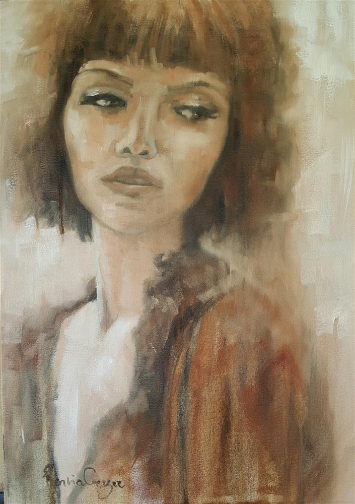 """Portrait in Sepia"" original fine art by Rentia Coetzee"