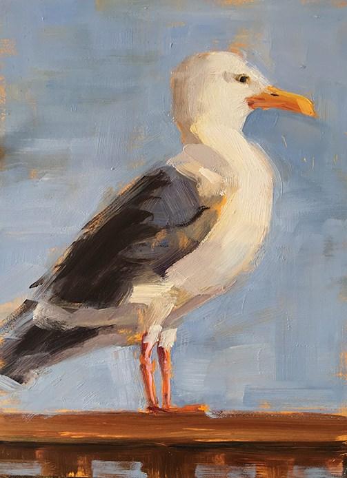 """Eyes on the Fries"" original fine art by Deborah Newman"