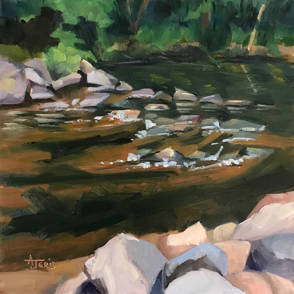 """River's Edge"" original fine art by Andrea Jeris"
