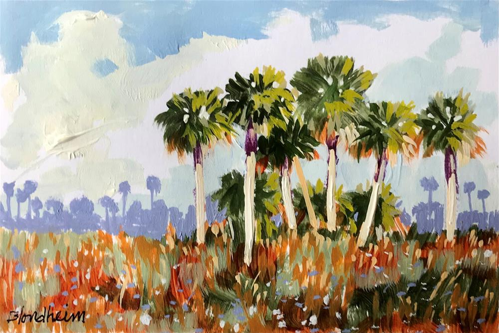"""Palm Hammock"" original fine art by Linda Blondheim"