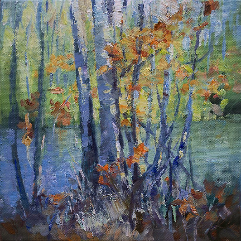"""""""Along The River Path"""" original fine art by Denise Maxwell"""