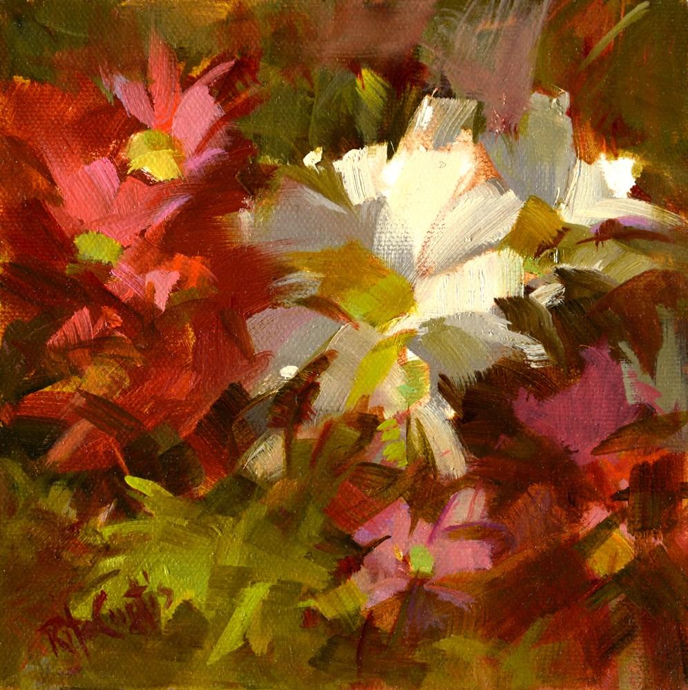 """A Daisy Here A Daisy There"" original fine art by Rita Curtis"