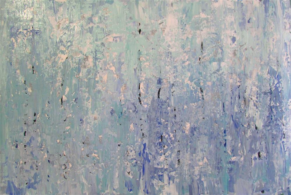 """26 x 17 inch acrylic abstract"" original fine art by Linda Yurgensen"