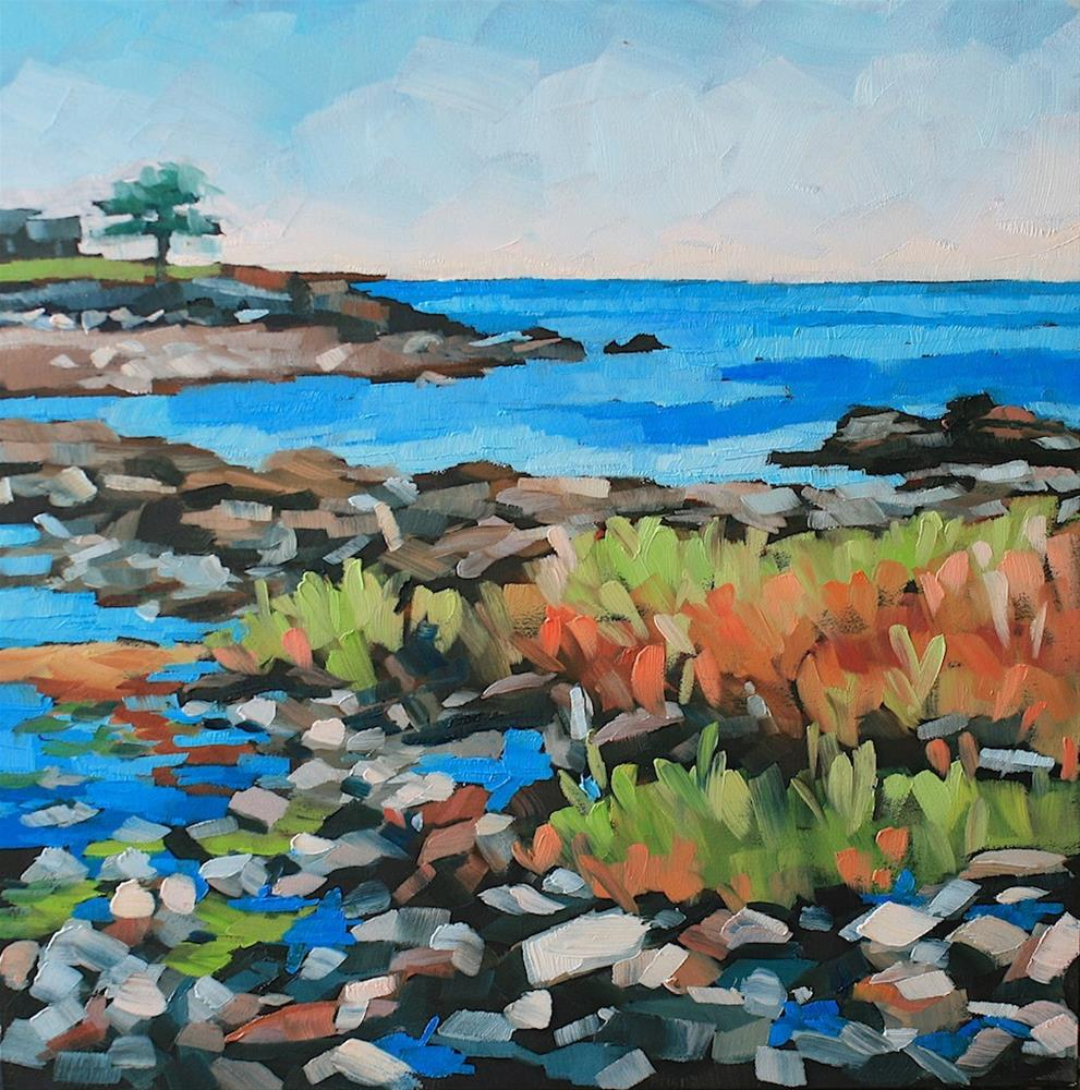 """Pond Cove"" original fine art by Mary Anne Cary"