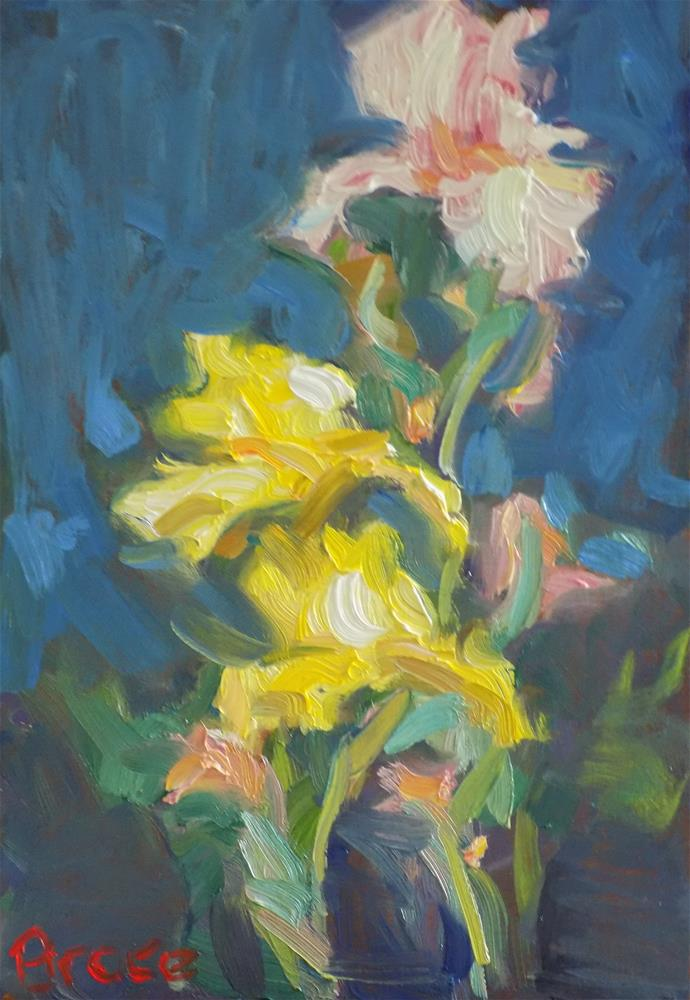 """Irises"" original fine art by Rita Brace"