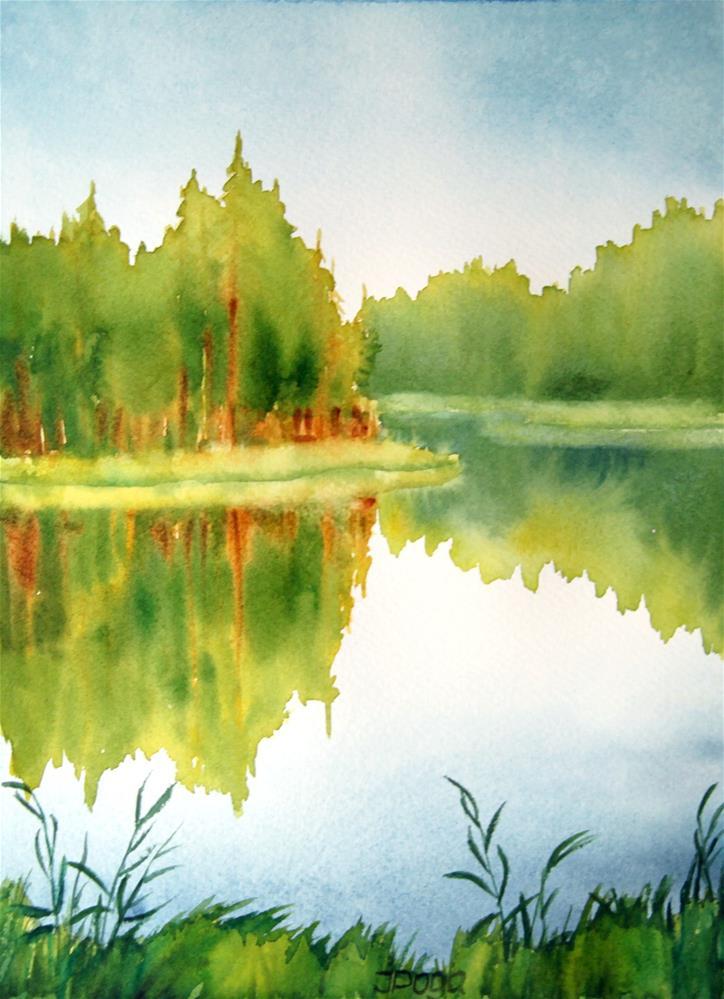 """Water edge"" original fine art by Inese Poga"
