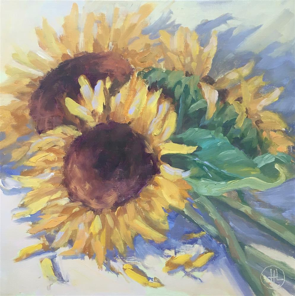 """sunshine bouquet"" original fine art by Dottie  T  Leatherwood"