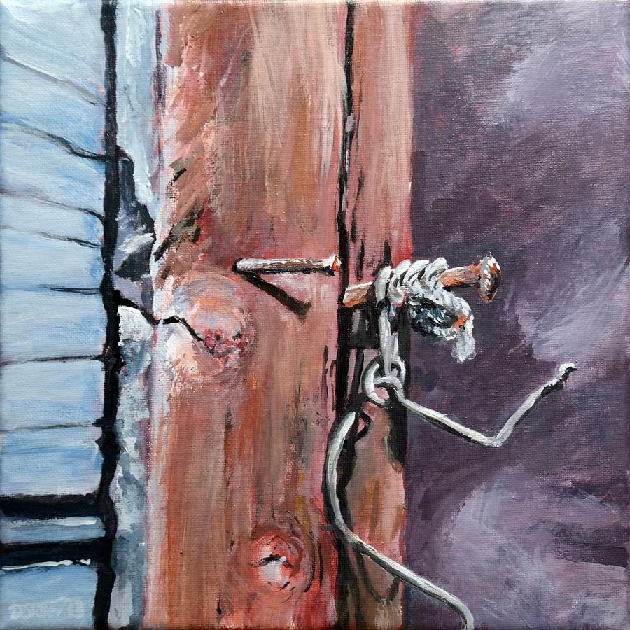 """0759 On the Nail"" original fine art by Dietmar Stiller"