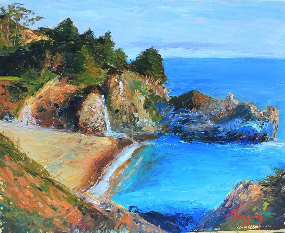 """California coast scene"" original fine art by Marco Vazquez"