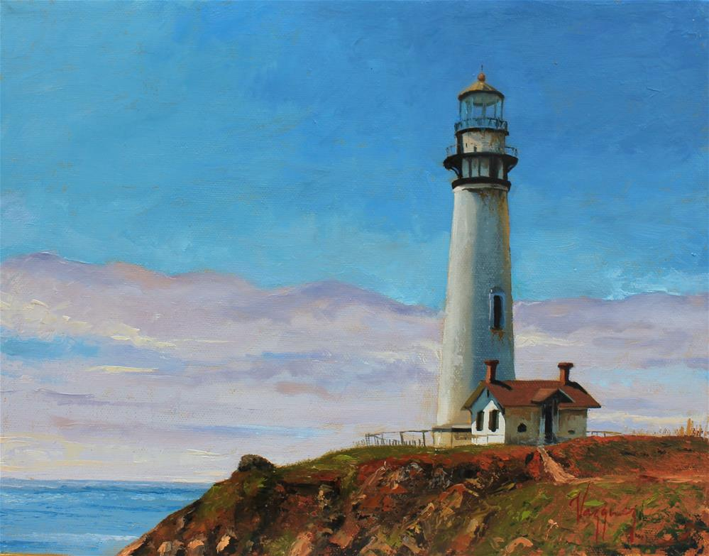 """Pigeon point lighthouse"" original fine art by Marco Vazquez"