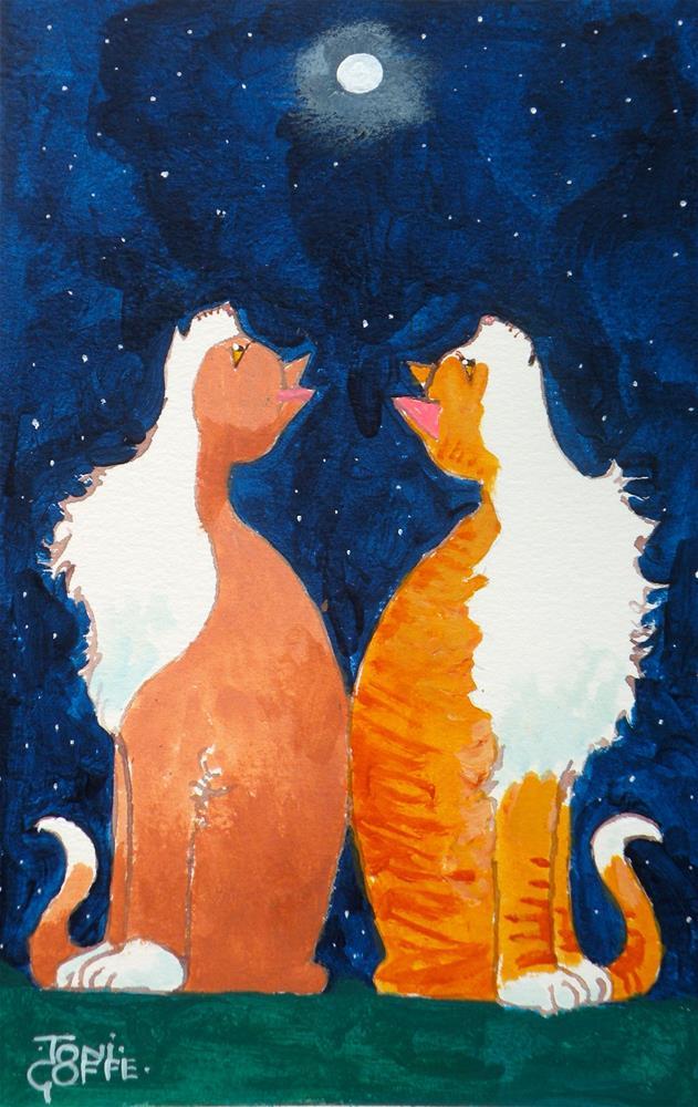 """Star Gazing"" original fine art by Toni Goffe"