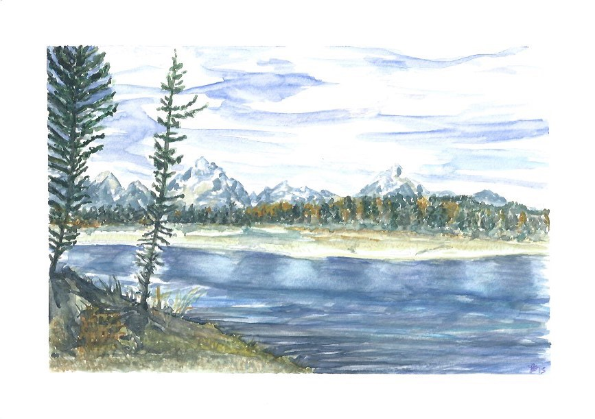 """Grand Teton National Park"" original fine art by Laura Denning"